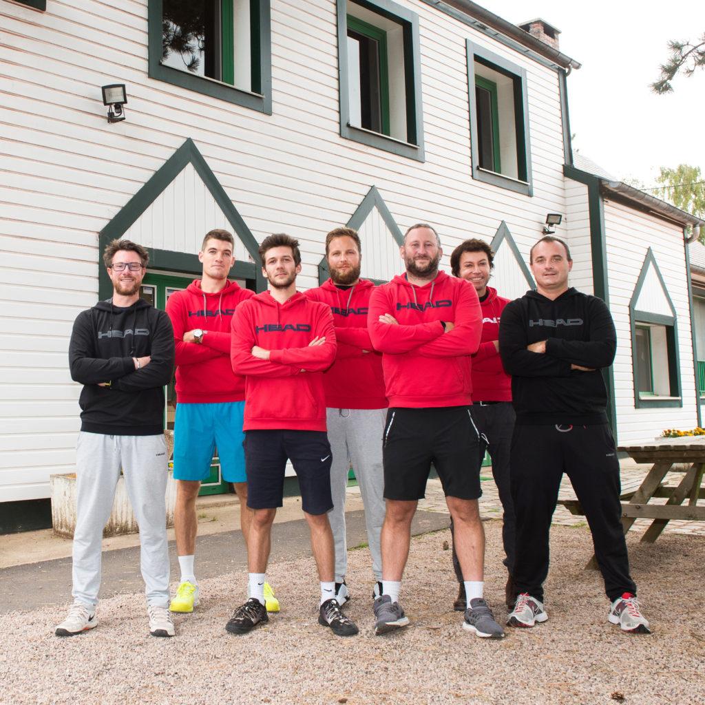 L' équipe d' enseignants du tennis club de Bois-Guillaume